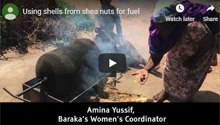 Using shells from shea nuts for fuel