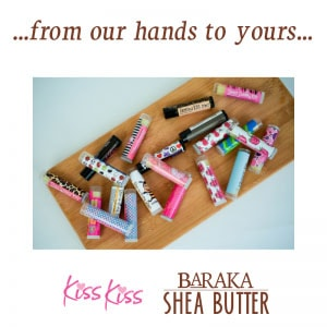 Featured … from our hands to yours … Kiss Kiss Lipbalm for Kids