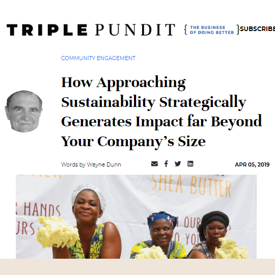 How Approaching Sustainability Strategically Generates Impact far Beyond Your Company's Size