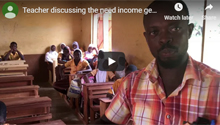 Teacher discussing the need income generation skills training