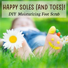 Happy Soles (and toes) Moisturizing Foot Scrub