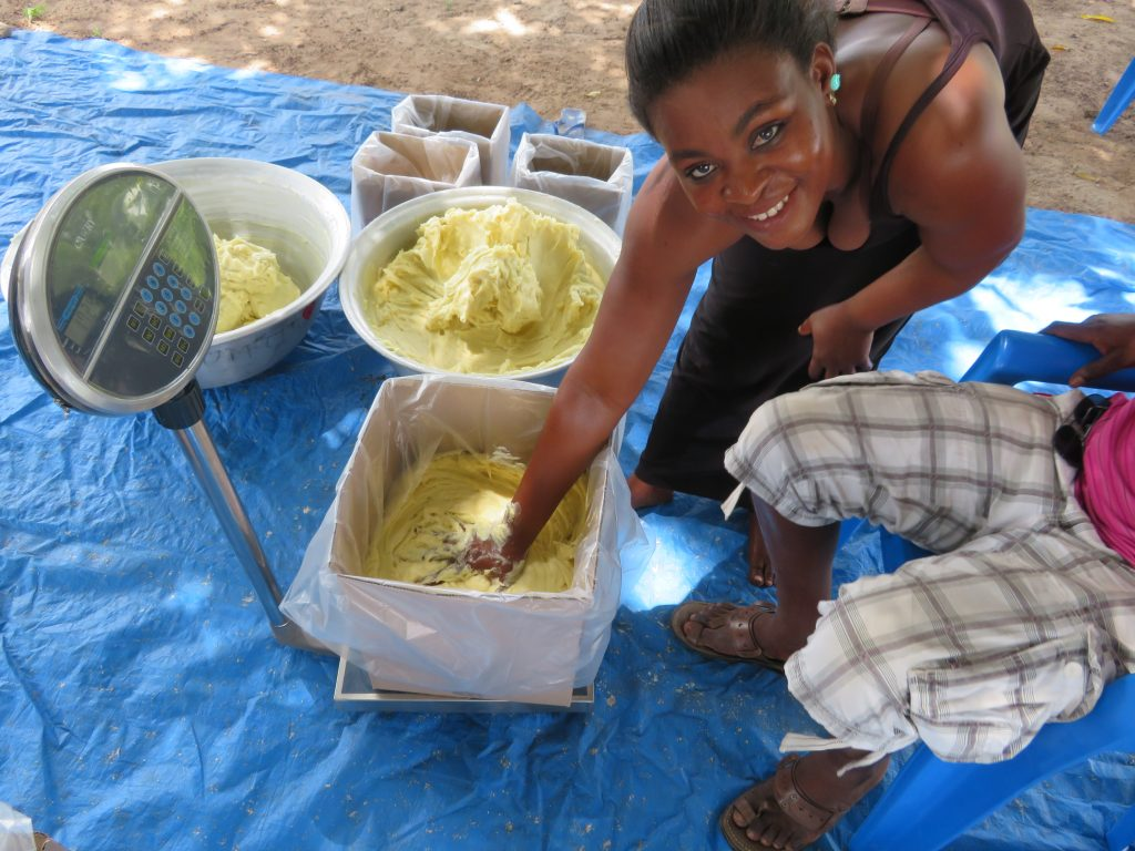 Packing high-quality shea butter